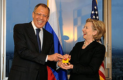 Clinton and lavrov and the reset button