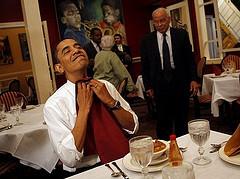 Obama eats