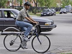 Obama on a bike