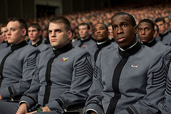West Point cadets listen to Obama