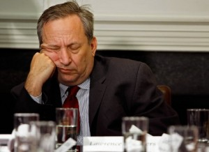 Larry Summers asleep