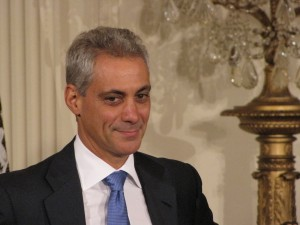 Rahm Emanuel at his East Room farewell