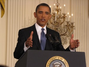 Obama in the East Room
