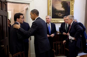 Obama, Eric Cantor, Mitch McConnell