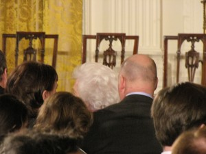 Barbara Bush's Hair. Photo by Keith Koffler