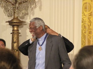 Bill Russell gets Medal of Freedom award from Obama
