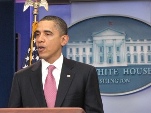 President Obama briefing room