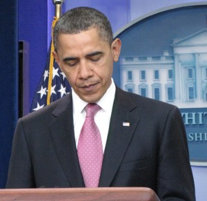 Obama addresses the murders in Germany. Photo by Keith Koffler