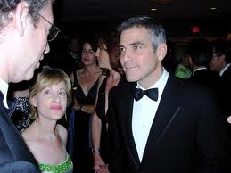 Keith Koffler and George Clooney