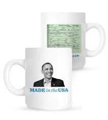 Obama birth mug