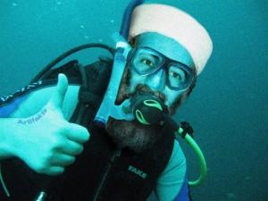 Bin Laden underwater