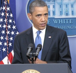 Obama at press conference 7-11-14