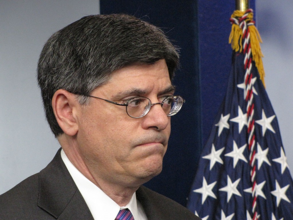 Jack Lew frowns