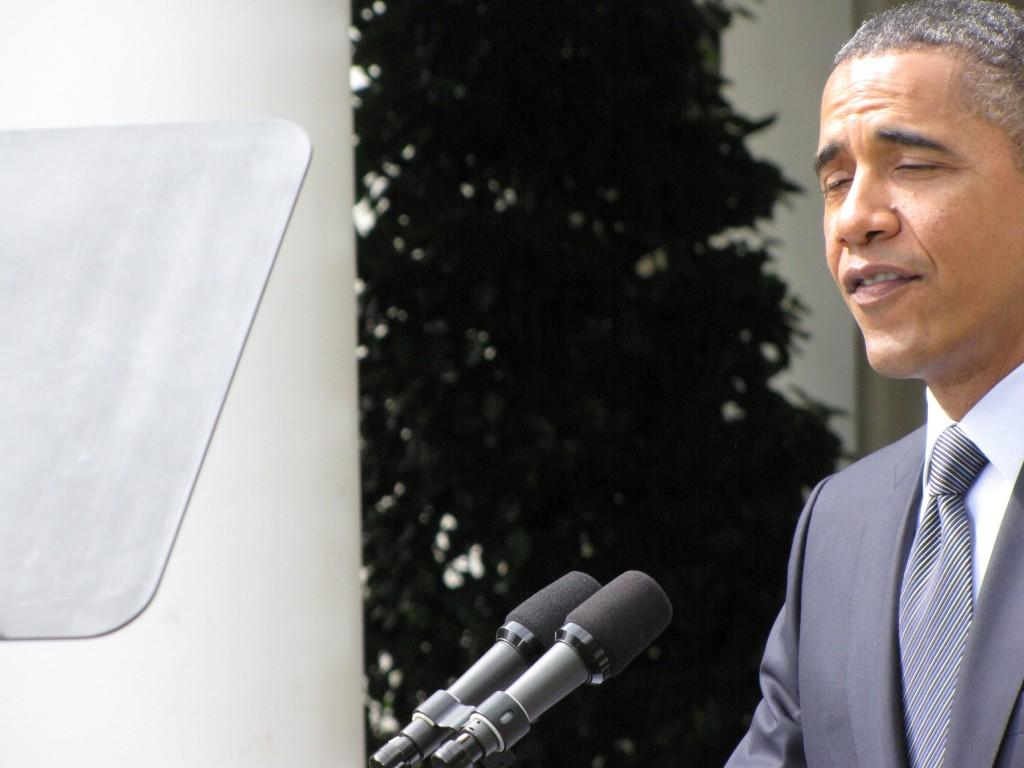 Obama flubs