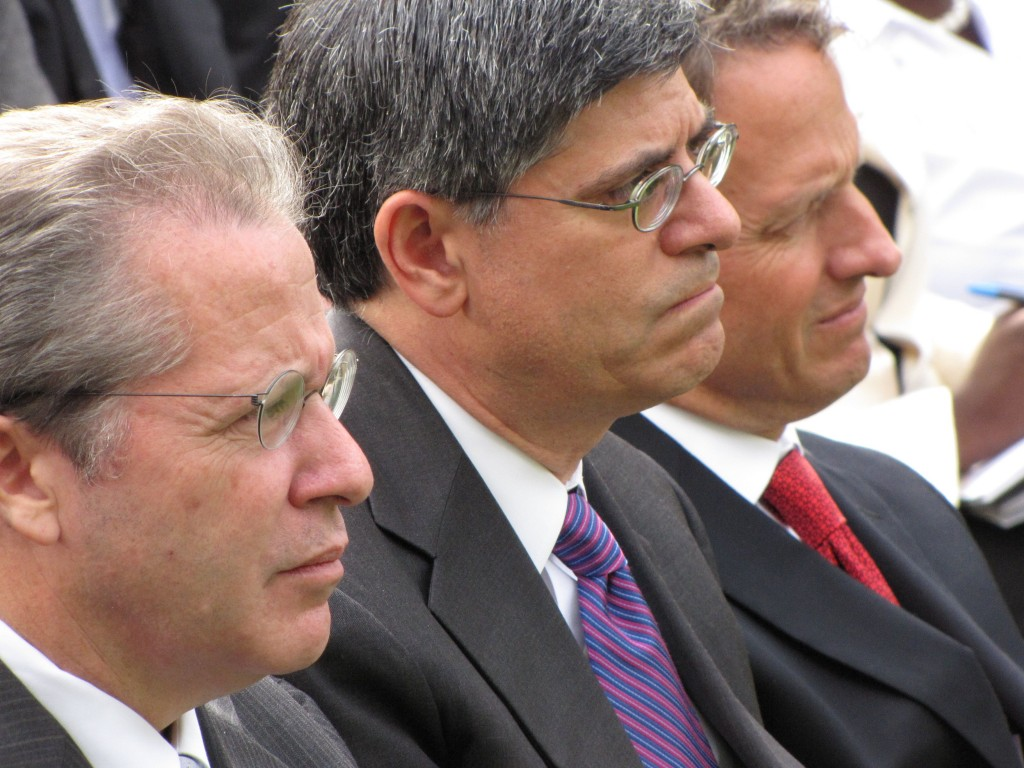 Sperling, Lew, Geithner