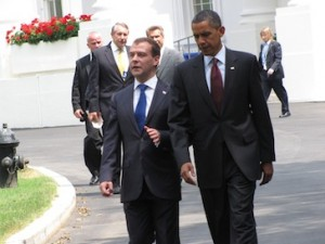 Obama and Medvedev