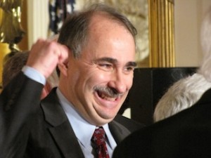 David Axelrod fist pump in East Room