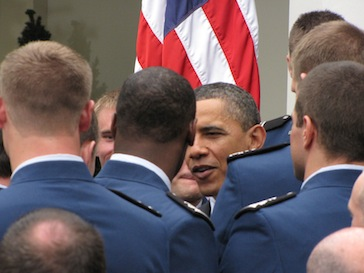 Obama with soldiers