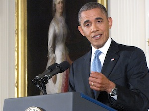 Obama press conference East Room