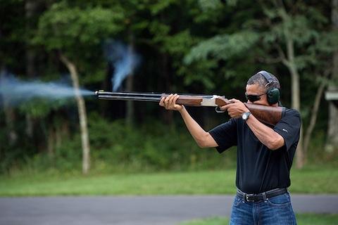 Obama shoots skeet