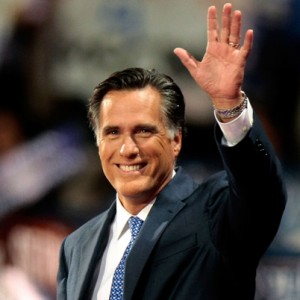 Romney waves