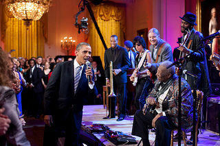 Obama blues performance