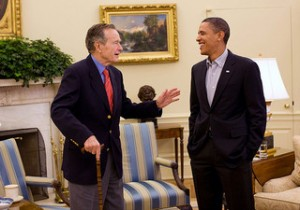 Geoge HW Bush Obama