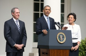 Obama with Froman and Pritzker Thursday