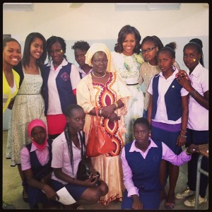 Michelle in Senegal today