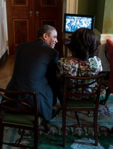 The Obamas are permitted a small TV in prison.