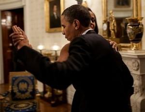 Obamas dance