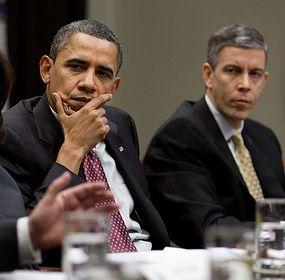 Obama and Arne Duncan