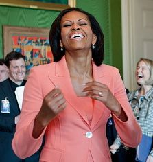 Michelle happy