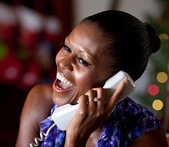 Michelle on phone
