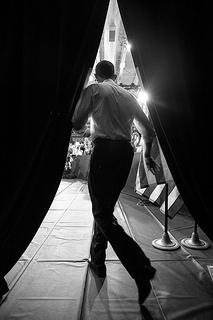 Obama runs