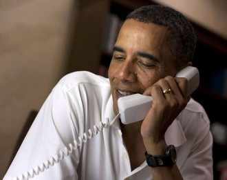 Obama on the Phone