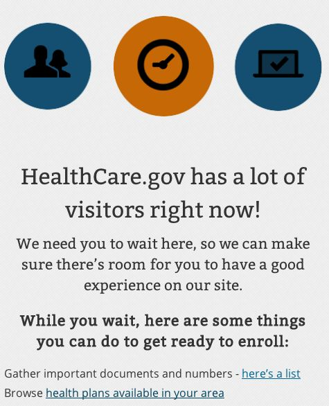 healthcare.gov error