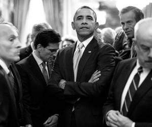 Obama arms folded
