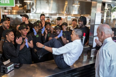 Obama does the Shake Shack Shimmy