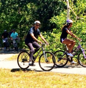 Obama bike Martha's Vineyard