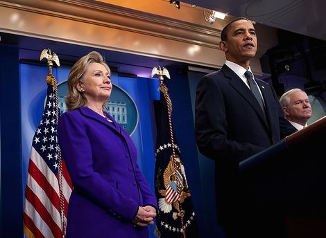 Hillary and Obama
