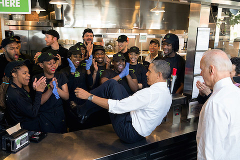 Obama on counter