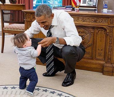 Obama Oval child