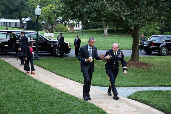 Obama walks