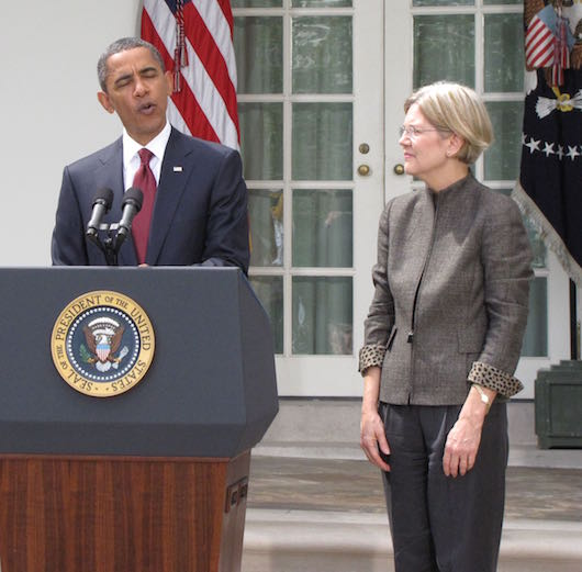 Obama and Elizabeth Warren