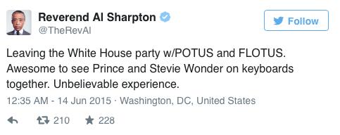 Sharpton Tweet