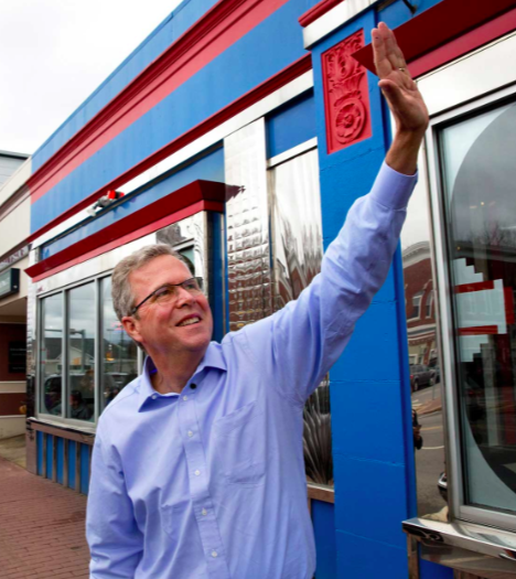 Jeb Bush waves