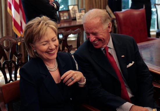 Hillary Clinton and Biden