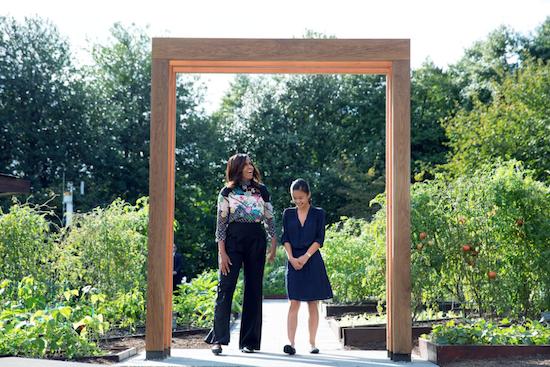 Michelle Obama garden archway