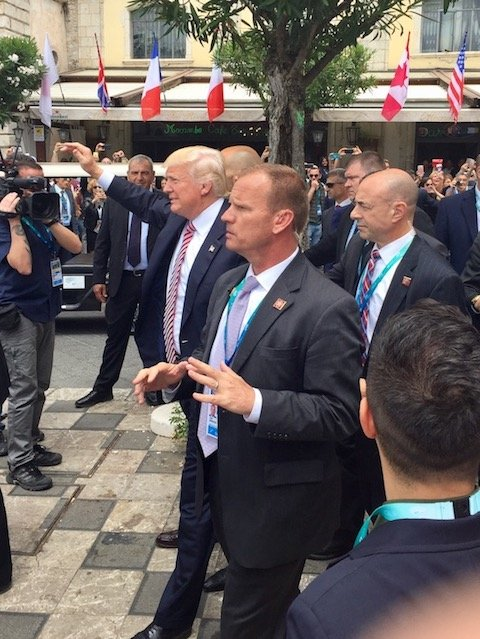 Trump at the G7 in Italy May 26, 2017
